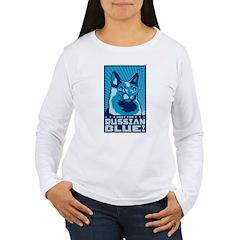 Obey the Russian Blue! Women's Long Sleeve Tee