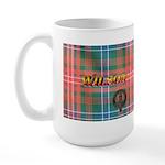 Wilson Tartan & Badge Large LH Mug