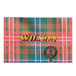 Wilson Tartan & Badge Postcards (Package of 8)