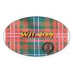 Wilson Tartan & Badge Oval Sticker