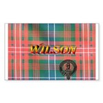 Wilson Tartan & Badge Rectangle Sticker