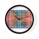 Wilson Tartan & Badge Wall Clock