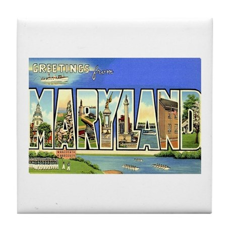 Greetings from Maryland Tile Coaster