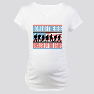 HOME OF THE FREE BECAUSE OF THE BRAVE Maternity T-