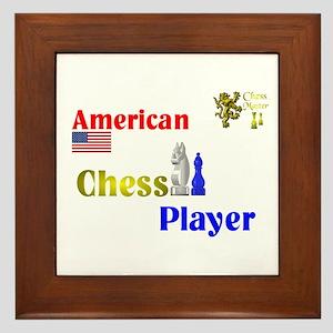 American Chess Player. Framed Tile
