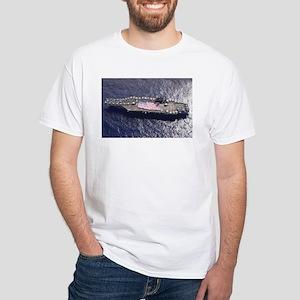 USS Nimitz Ship's Image White T-Shirt