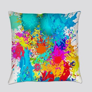 Colorful Vertical Burst Everyday Pillow