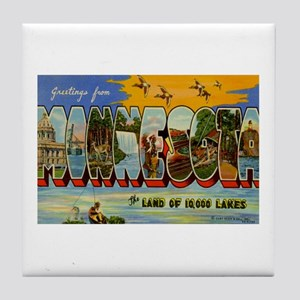 Greetings from Minnesota Tile Coaster