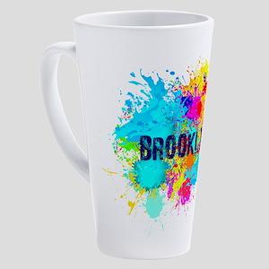 BROOKLYN NY SPLASH 17 oz Latte Mug