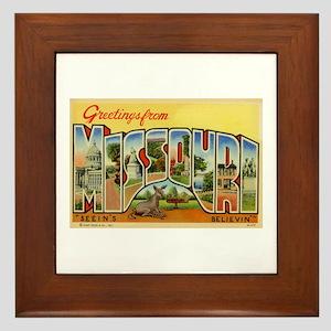 Greetings from Missouri Framed Tile