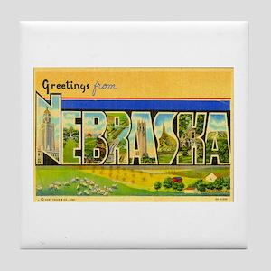 Greetings from Nebraska Tile Coaster