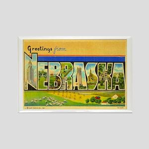 Greetings from Nebraska Rectangle Magnet