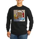 Karate Fish Escape Long Sleeve Dark T-Shirt
