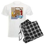 Karate Fish Escape Men's Light Pajamas
