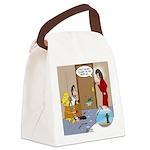 Karate Fish Escape Canvas Lunch Bag