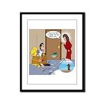 Karate Fish Escape Framed Panel Print