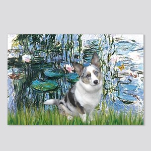 Lilies (#1) - Corgi (Bl.M) Postcards (Package of 8