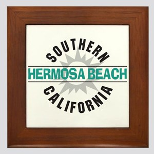 Hermosa Beach California Framed Tile