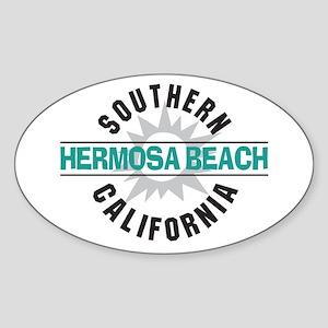 Hermosa Beach California Oval Sticker