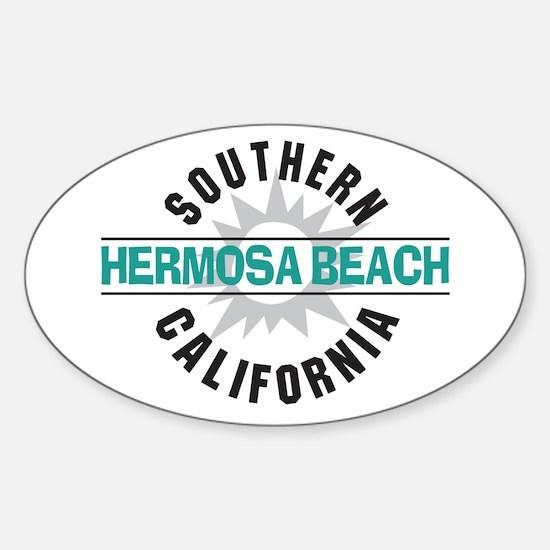 Hermosa Beach California Oval Decal
