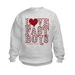 Love fast boys Kids Sweatshirt