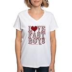 Love fast boys Women's V-Neck T-Shirt