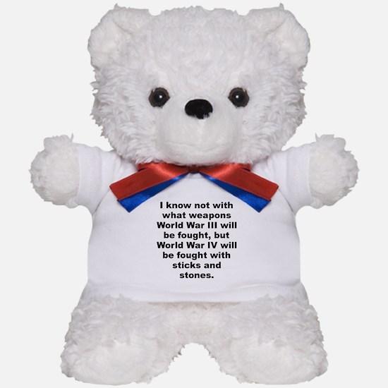 Cute Einstein quotation Teddy Bear