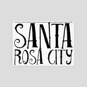 Santa Rosa City 5'x7'Area Rug