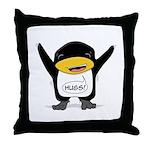 """Darwin """"hugs!"""" Throw Pillow"""