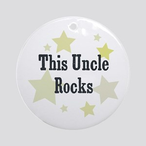 This Uncle Rocks Ornament (Round)