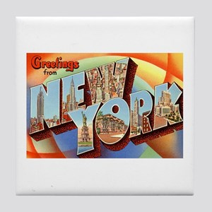 Greetings from New York Tile Coaster