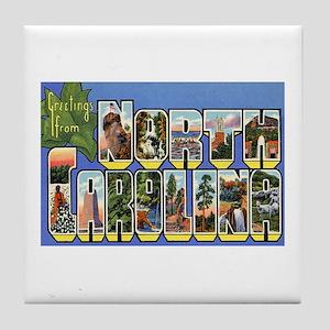 Greetings from North Carolina Tile Coaster