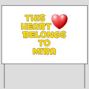 This Heart: Mira (D) Yard Sign