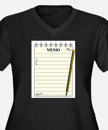 Lined Memo Notepad With Pencil Plus Size T-Shirt