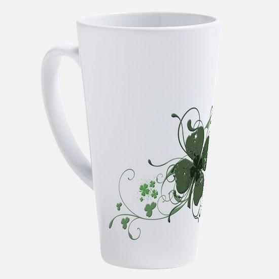 Unique Clovers 17 oz Latte Mug