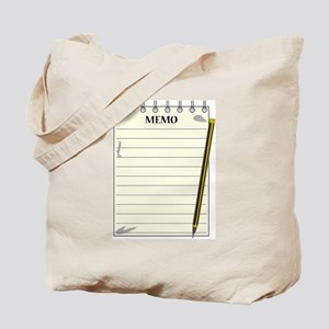 Lined Memo Notepad With Pencil Tote Bag
