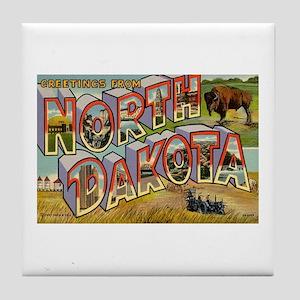 Greetings from North Dakota Tile Coaster