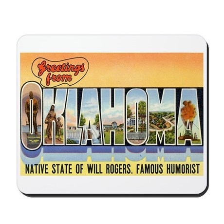 Greetings from Oklahoma Mousepad
