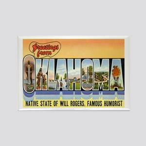 Greetings from Oklahoma Rectangle Magnet