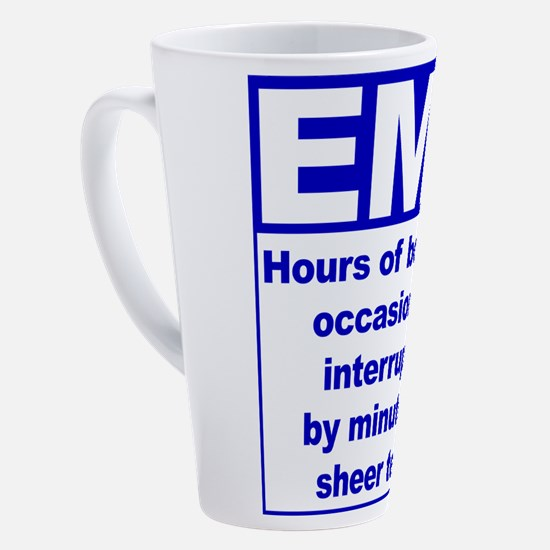 Cute Funny ems 17 oz Latte Mug