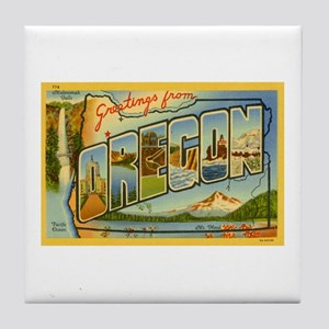 Greetings from Oregon Tile Coaster