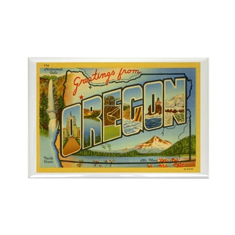 Greetings from Oregon Rectangle Magnet