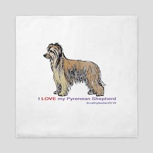 Pyrenean Shepherd Love Queen Duvet