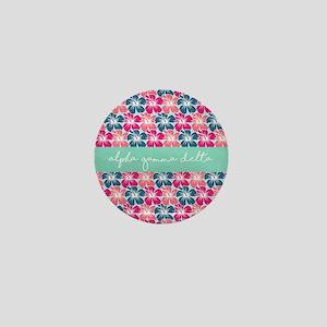 Alpha Gamma Delta Flower Mini Button
