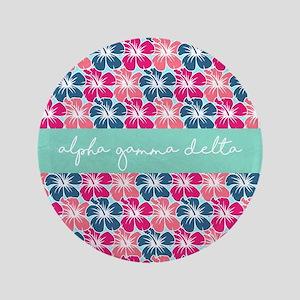 """Alpha Gamma Delta Flower 3.5"""" Button"""