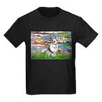 Lilies (#2) - Corgi (Bl.M) Kids Dark T-Shirt