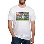 Lilies (#2) - Corgi (Bl.M) Fitted T-Shirt