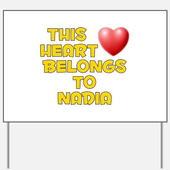 This Heart: Nadia (D) Yard Sign