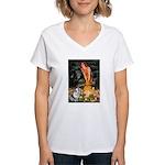 MidEve - Corgi (Bl.M) Women's V-Neck T-Shirt