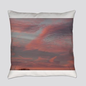sunrise in san Jose with orange cl Everyday Pillow